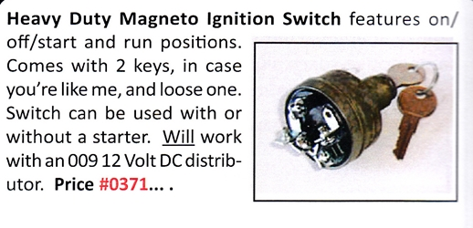 0371 / Heavy Duty Magneto Ignition Switch