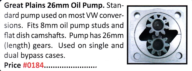 0184 / 26mm Oil Pump