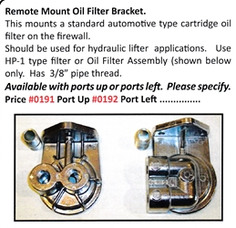 0191 / Remote Mount Oil Filter Bracket
