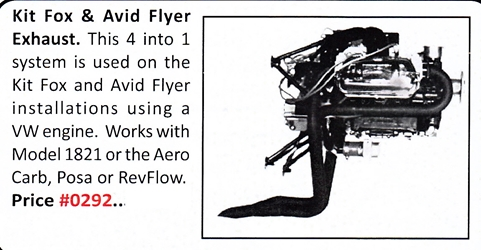 0292 / Kit Fox & Avid Flyer Exhaust