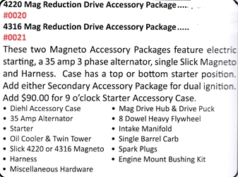 0021 / 4316 Mag Reduction Drive Accessory Package