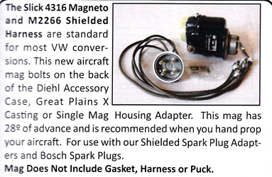 0332 / Slick 4316 Magneto and M2266 Shielded Harness
