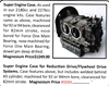 0084A / Super Engine Case for Reduction / Flywheel Drive Systems