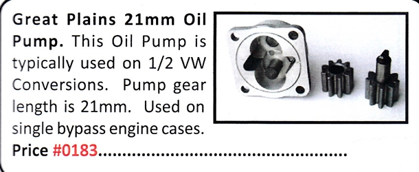 0183 / 21mm Oil Pump