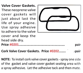 0201 / Valve Cover Gaskets